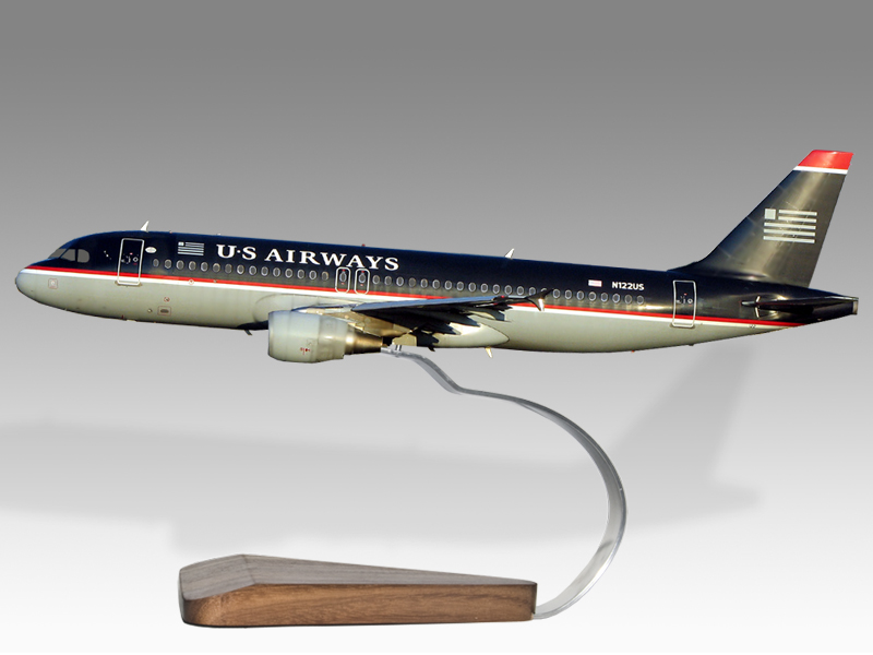 Airbus A320 US Airways Model Private & Civilian $194.5 PlaneArts ...