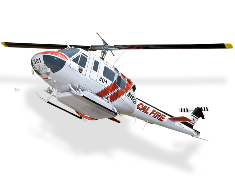 Huey Helicopter For Sale >> Bell UH-1H Super Huey Cal Fire Firefighting Model Helicopters $224.50 MyMahoganyModels Wood ...