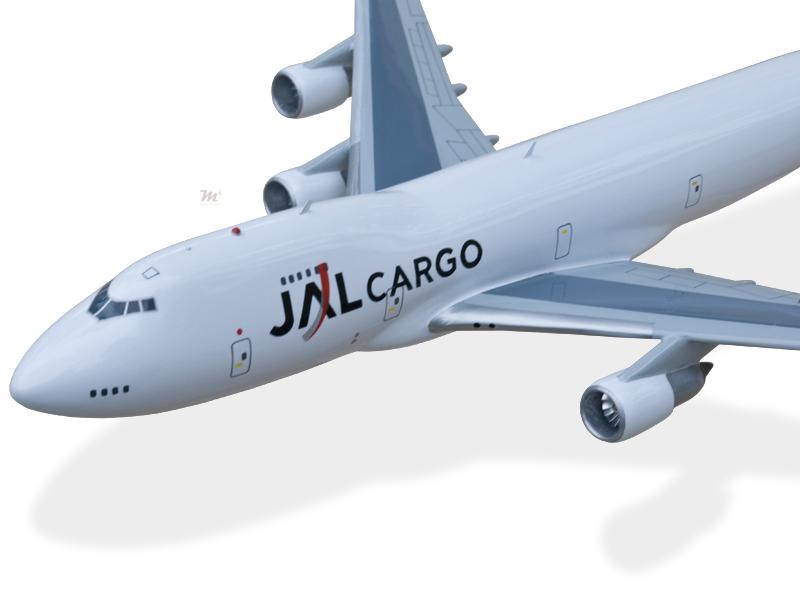 Airlines Boeing 747-400 Japan Airlines Jal Solid Wood Handmade Desktop Airplane Model