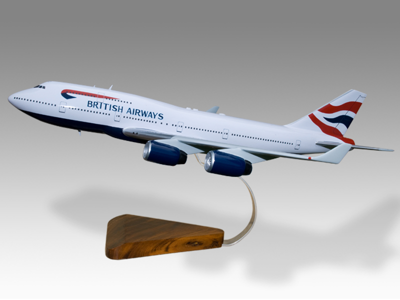 Aeronautica Nice Boeing 747-400 F World Cargo Solid Mahogany Wood Handmade Desktop Airplane Model Collectables