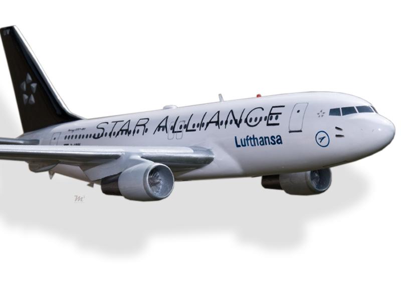 Boeing 767-300 Lufthansa Solid Kiln Dried Mahogany Wood Handmade Desktop Model Models Transportation Collectables