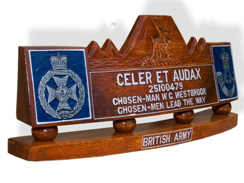 British Army Desk Plaque Tail Shields Amp Flashes Plaques
