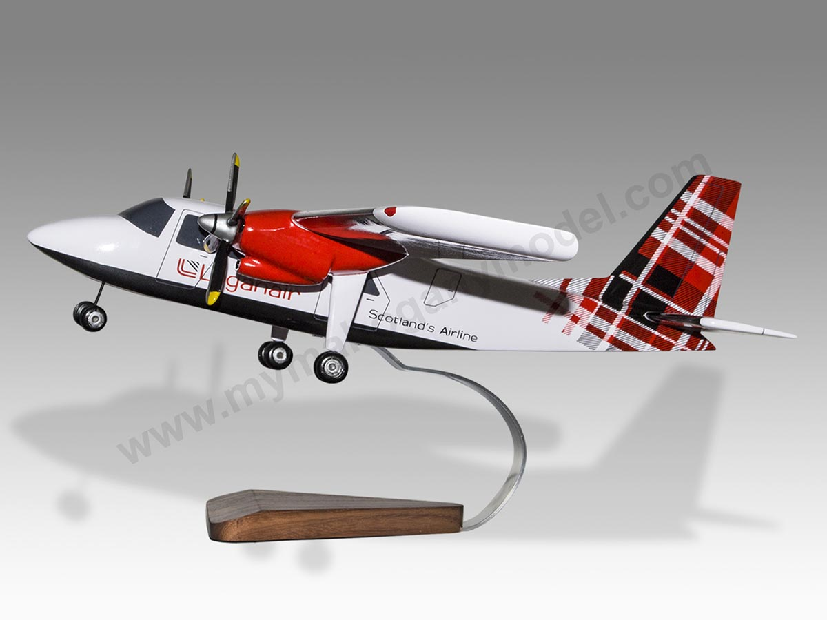 Details about Britten Norman BN2 Islander Loganair Solid Wood Handcrafted  Desktop Model