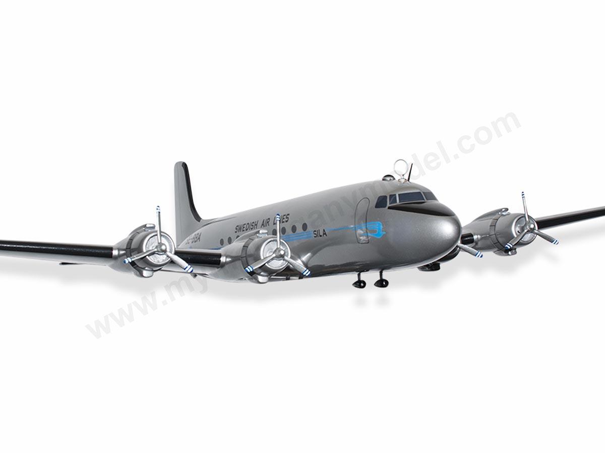Douglas dc 4 sila swedish air lines model private civilian 19450 for malvernweather Choice Image