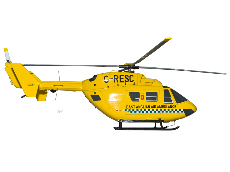 Models Airbus Eurocopter Bk117 East Anglian Ambulance Handmade Desktop Helicopter Model