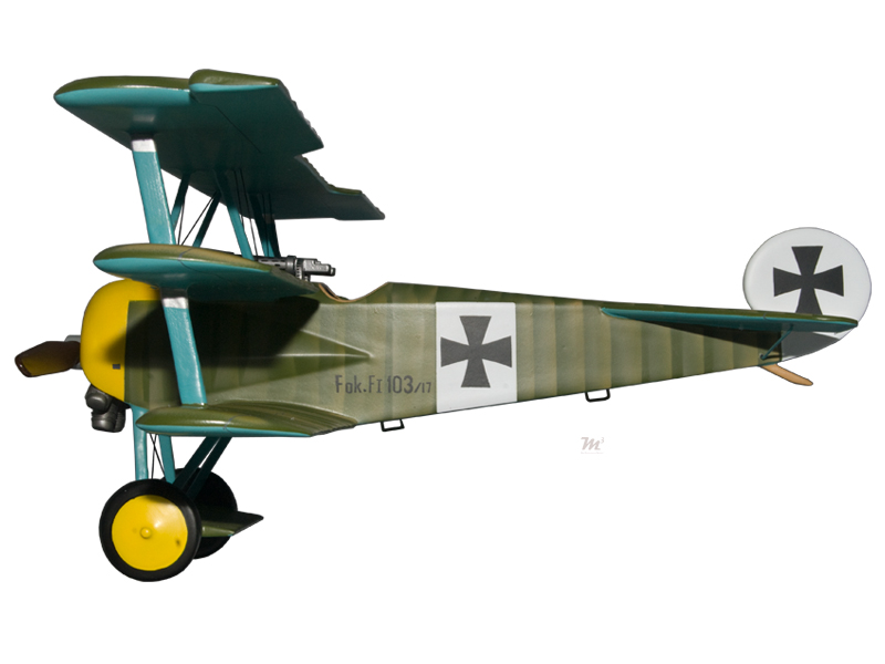 Fokker Dr 1 Triplane Werner Voss Model Military Airplanes