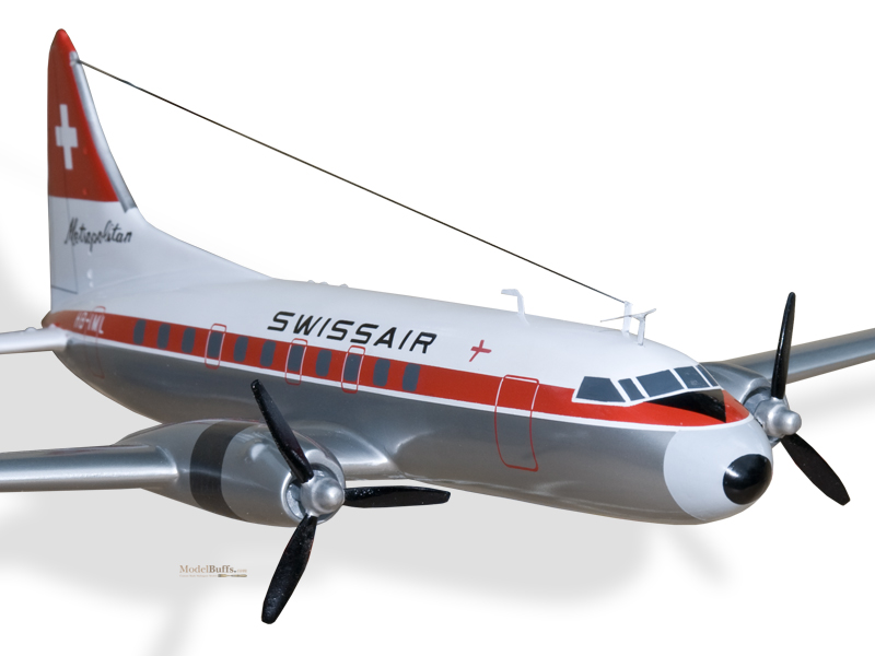 convair cv440 swissair metropolitan model private  u0026 civilian  194 50 modelbuffs custom made