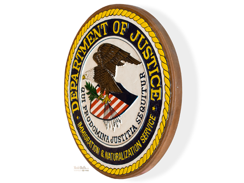 u s department of justice plaque tail shields flashes plaques seals modelbuffs. Black Bedroom Furniture Sets. Home Design Ideas